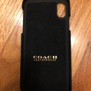 Coach iPhone X card case